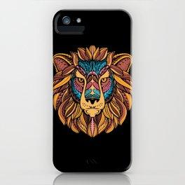 Tribal Lion Head iPhone Case