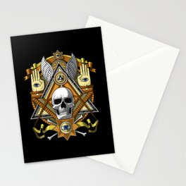 Masonic Skull Stationery Cards