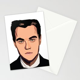 Portrait of Leonardo Wilhelm DiCaprio Stationery Cards