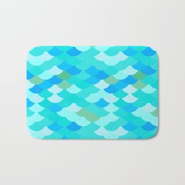 pattern scales, wave abstract simple Nature background mermaid Bath Mat