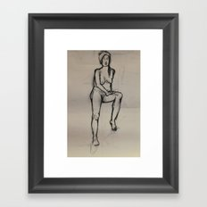Girl, in Peace Framed Art Print