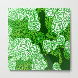 Night In the Jungle Garden Metal Print