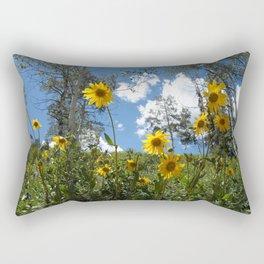 Flowers on the Mountainside Rectangular Pillow