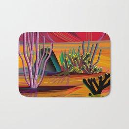 Cactus Garden Sunset Square Bath Mat