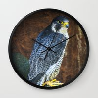 millenium falcon Wall Clocks featuring Falcon by Veronika