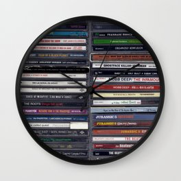 Old School Hip Hop CD Collection Wall Clock