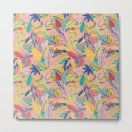 Fruit Tea Florals - Nectarine Metal Print