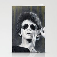 lou reed Stationery Cards featuring Lou Reed by Vikki Sin