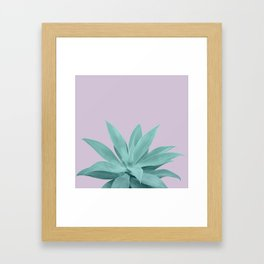 Lavender Green Agave Vibes #1 #tropical #decor #art #society6 Framed Art Print