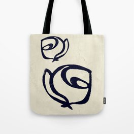 Flowers, Mother-Daughter Tan Tote Bag