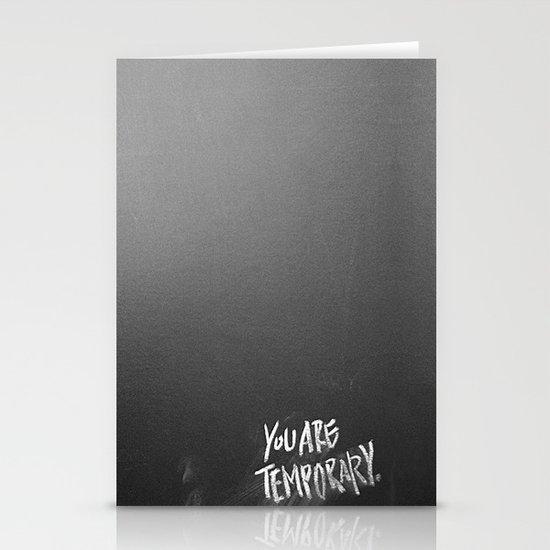 Temporary, take 3 Stationery Cards