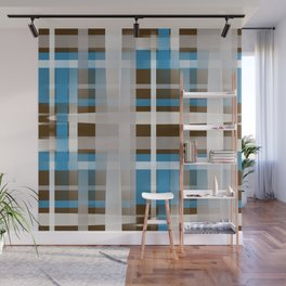 Chocolate Dipped Graphic Plaid Wall Mural