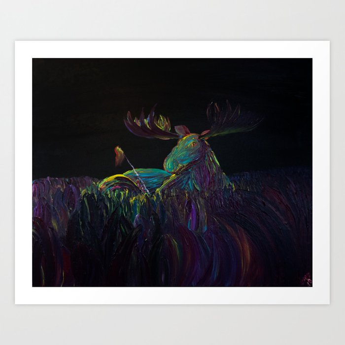 Me and My Moose Friend Art Print