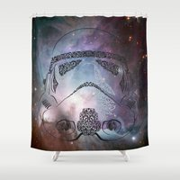 storm Shower Curtains featuring storm  by Vickn