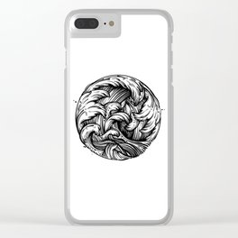 Waves Tattoo Clear iPhone Case