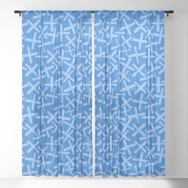 Ocean - X-Plosion Decorative Pattern Sheer Curtain