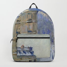 Gustave Caillebotte - Boulevard Haussmann, effet de neige Backpack