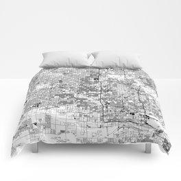 Phoenix White Map Comforters