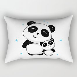 World's Best Big Brother Cute Panda Pandas Siblings Bro Gift T-Shirt Rectangular Pillow