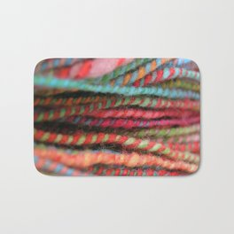 Handspun Yarn Color Pattern by robayre Bath Mat