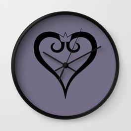 Kingdom Hearts Logo (Black) Wall Clock