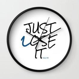 Just Lose It Wall Clock