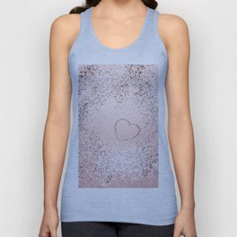 Sparkling ROSE GOLD Lady Glitter Heart #5 #decor #art #society6 Unisex Tank Top