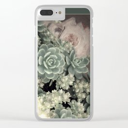 Gaia asleep Clear iPhone Case