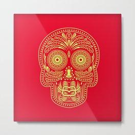 Duckface Skull Metal Print