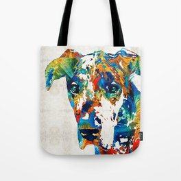 Colorful Great Dane Art Dog By Sharon Cummings Tote Bag