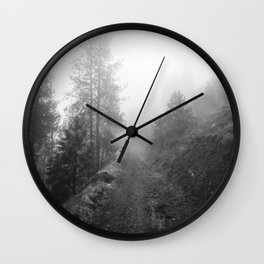 October Fog Wall Clock