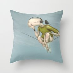 Up here with you Throw Pillow