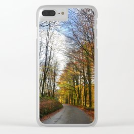 drive to the woods Clear iPhone Case