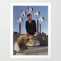 Don't touch your dog Midas! Art Print
