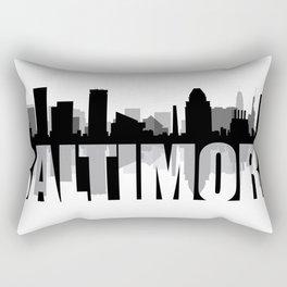 Baltimore Silhouette Skyline Rectangular Pillow