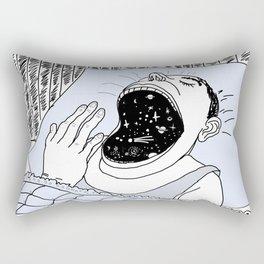 man and the cosmos . artwork Rectangular Pillow