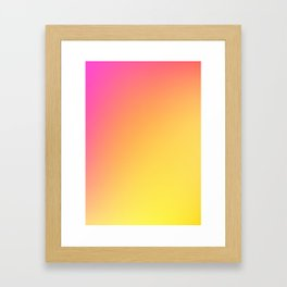 PEACH / Plain Soft Mood Color Blends / iPhone Case Framed Art Print