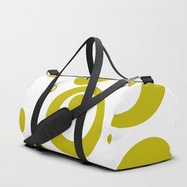 Circles Dots Bubbles :: Citron Inverse Duffle Bag