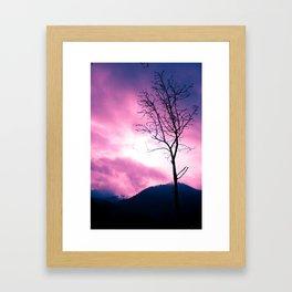 Into the Pink & Purple Sky  - JUSTART © Framed Art Print