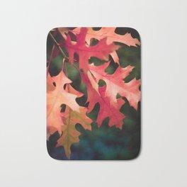Reddish autumn leaves Bath Mat