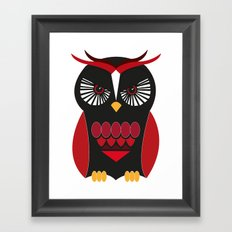 Evil Owl Framed Art Print