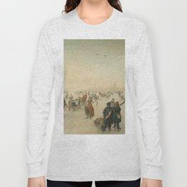 Winter landscape at a city - Hendrick Avercamp (1620) Long Sleeve T-shirt