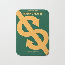 No377 My Trading Places minimal movie poster Bath Mat