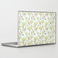 giraffes Laptop & iPad Skins featuring Giraffes by Emma Margaret Illustration