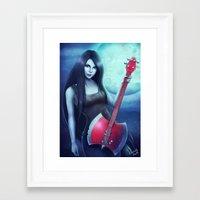 marceline Framed Art Prints featuring Marceline by Emeraldus