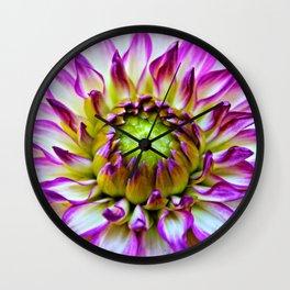 A Dashing Dahlia Wall Clock