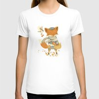 fruit T-shirts featuring Fritz the Fruit-Foraging Fox by Teagan White
