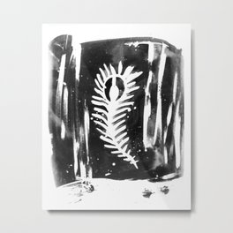 Feather Grunge Metal Print
