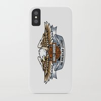 harley iPhone & iPod Cases featuring harley by Megoer