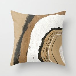 Gold Agate Throw Pillow
